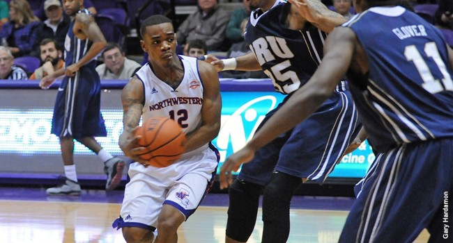 Northwestern State sophomore guard Jalan West was named the Southland's defensive player of the year.